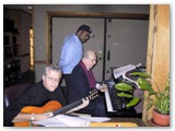 Diana Krall recording session with Christian McBride and Claus Ogerman