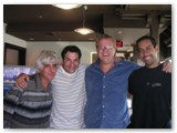 Gil Goldstein, John Patitucci, Romero and Antonio Sanchez at Bennett Studios