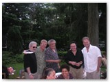 Cesar Camargo Mariano, Romero, Paquito D'Rivera, Claudio Roditi and Nilson in the backyard
