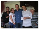 Stefon Harris, Janis Siegel, Romero, John Patitucci and Gil Goldstein at Bennett Studios